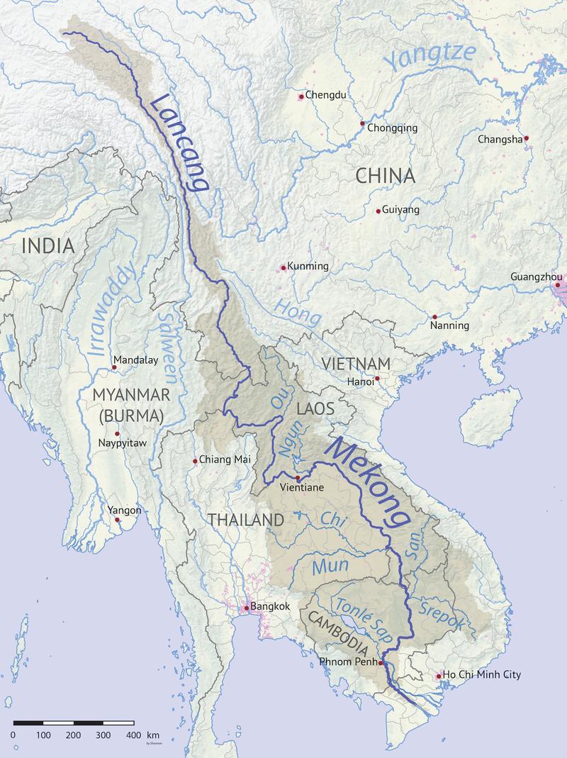 bản đồ sông mê kông bắt nguồn từ đâu