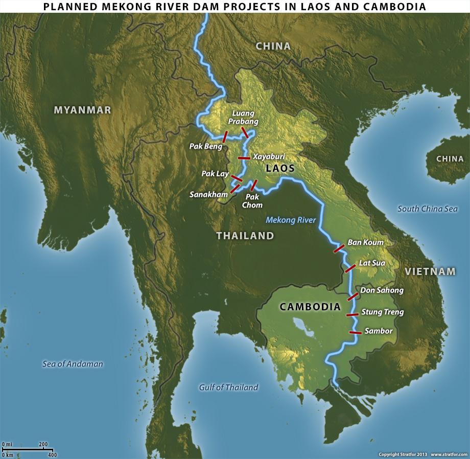 bản đồ sông mekong