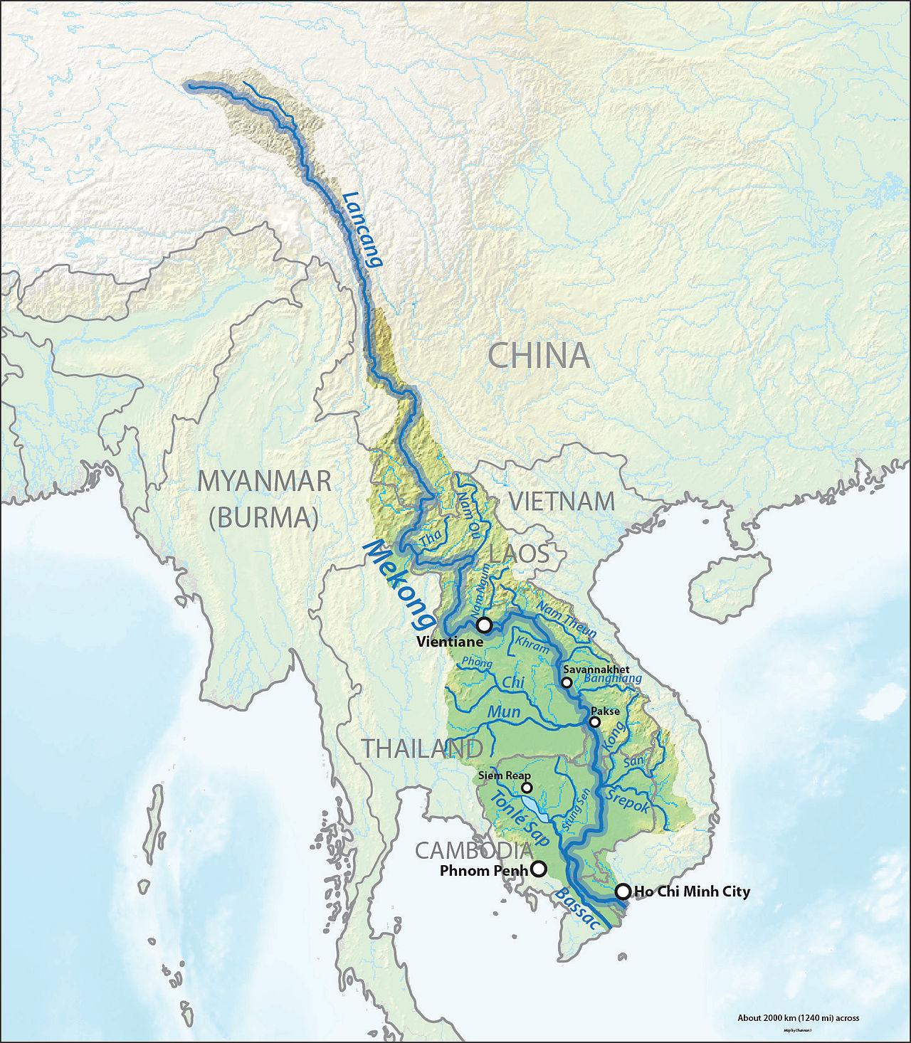 sông mê kông chảy qua bao nhiêu quốc gia